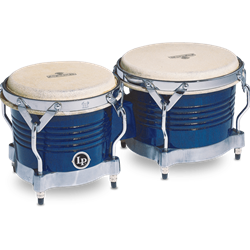 MATADOR SERIES WOOD BONGOS BLUE W CHROME