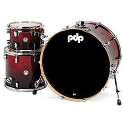 Concept Maple 3 piece kit Red to Black Fade