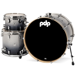 Concept Maple 3 piece kit Silver to Black Fade