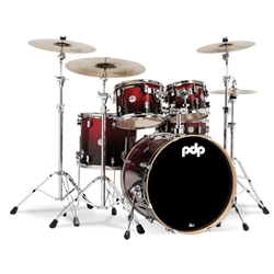 Concept Maple 5 piece kit Red to Black Fade