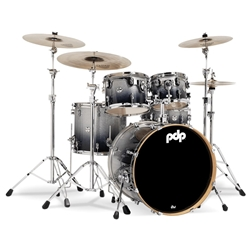 Concept Maple 5 piece kit Silver to Black Fade