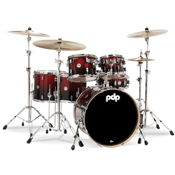 Concept Maple 6 piece kit Red to Black Fade
