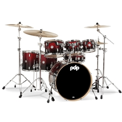 Concept Maple 7 piece kit Red to Black Fade