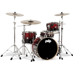 Concept Birch 4 piece kit Cherry to Black fade
