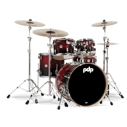 Concept Birch 5 piece kit Cherry to Black fade