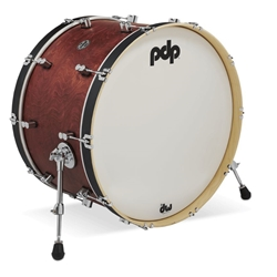 Concept Maple Classic 14x24 Bass Drum Ox blood stain
