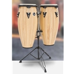 CITY SERIES CONGA SET WITH STAND NATURAL WOOD